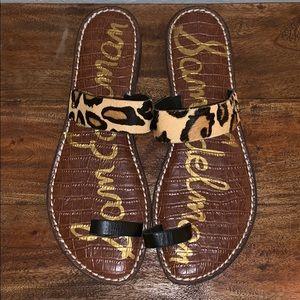 Sam Edelman Gabi Leopard Sandals 8.5